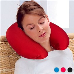 Neck Pillow with Anti-Stress Microballs Blue