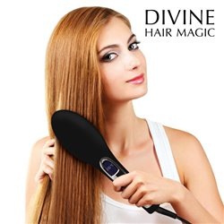 Brushture Elektrische Haarglätter-Bürste