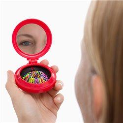 Colors Taschenspiegel mit Haarbürste