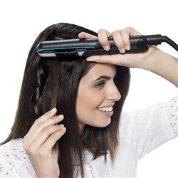 Rowenta Liss & Curl Ultimate Shine SF6220 Piastra per capelli Caldo Nero, Blu, Grigio 1,8 m