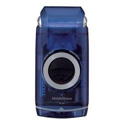 Braun MobileShave M-60b máquina de barbear Foil shaver Azul, Transparente