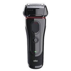 Braun 5030s afeitadora Máquina de afeitar de láminas Recortadora Negro, Rojo