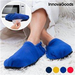 InnovaGoods Foot Warming Slippers Mustard
