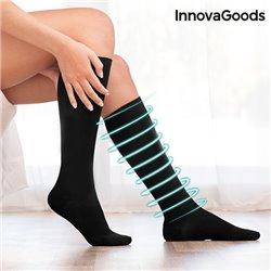 Calze a Compressione Relax InnovaGoods Nero