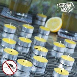 Candele Aromatiche alla Citronella Adventure Goods (pacco da 15)