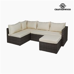 Ensemble sofa et pouf (2 pcs) by Craftenwood