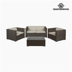 Wohnzimmer Sitzgruppe mit Tisch (4 pcs) by Craftenwood