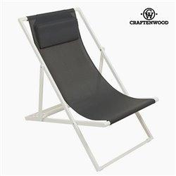 Chaise de jardin Aluminium Textilène Gris by Craftenwood