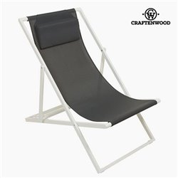 Garden chair Aluminium Textilene Grau by Craftenwood