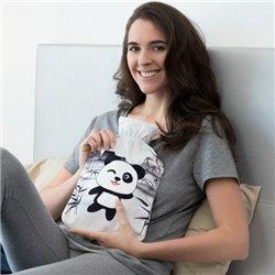Wärmflasche mit Pandabär-Bezug 1,7 L