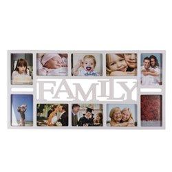 Cornice Foto Family (10 foto) Bianco