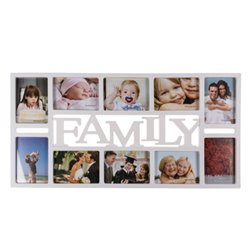 Family Photo Frame (10 Photos) White