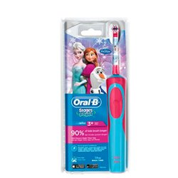 Oral-B 80268190 Elektrische Zahnbürste Kinder Rotierende-vibrierende Zahnbürste Blau, Rot