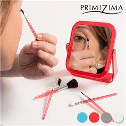 Espelho com Pincéis de Maquilhagem Primizima (6 peças) Transparente