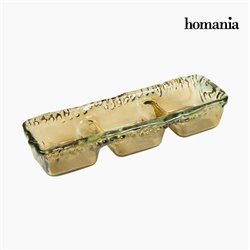 Recycled Glass Centerpiece Amber - Crystal Colours Deco Collection by Homania
