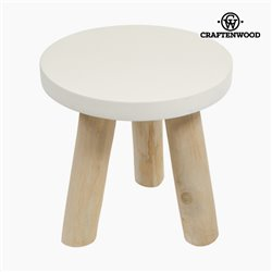 Craftenwood Table d'Appoint Bois Ronde - Natural Collection by