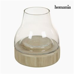 Candleholder Glass Wood - Pure Crystal Deco Collection by Homania