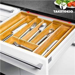 TakeTokio Bamboo Cutlery Tray