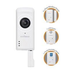Caméra IP + Capteurs Edimax IC-5170SC (H/V/D): 180° / 142° / 206° Zoom 4x Wifi