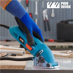 PWR WORK Compact All Materials Mini Circular Saw