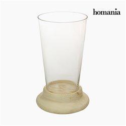 Vaso Vetro Legno - Pure Crystal Deco Collezione by Homania