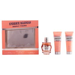 Women's Perfume Set Enrique Iglesias Deeply Yours Woman Singers 925801 (3 pcs)
