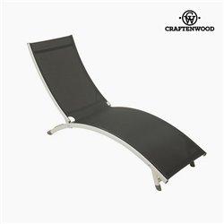 Sun-lounger (180 x 55 x 25 cm) Alumínio Cinzento by Craftenwood