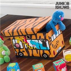 Caixa Dobrável para Brinquedos Bus Junior Knows