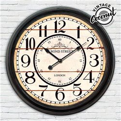 Vintage Coconut London Station Wall Clock