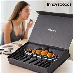 InnovaGoods Set Professionale di Pennelli da Trucco Ovali (11 Pezzi)