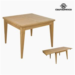 Table extensible Bois mindi (100 x 100 x 78 cm) by Craftenwood