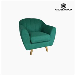 Fauteuil Polyester Vert (83 x 83 x 83 cm) by Craftenwood