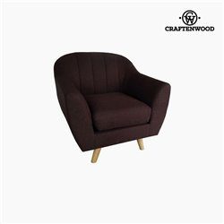 Fauteuil Polyester Marron (83 x 83 x 83 cm) by Craftenwood