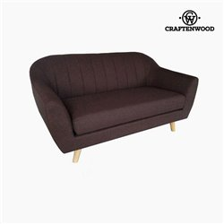 2-Seater Sofa Pine Polyester Brown (145 x 83 x 83 cm) by Craftenwood
