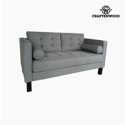 2-Seater Sofa Pine Polyester Grey (149 x 81 x 81 cm) by Craftenwood