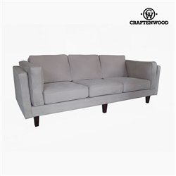 Sofá de 3 Plazas Madera de pino Polipiel Beige (228 x 92 x 80 cm) by Craftenwood