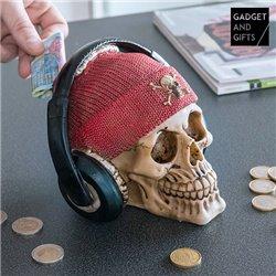 Gadget and Gifts Spardose Piraten Totenkopf mit Kopfhörern