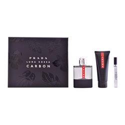 Conjunto de Perfume Homem Luna Rossa Carbon Prada (3 pcs)