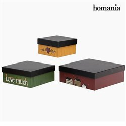 Decorative box Homanía 2649 (3 pcs) Squared