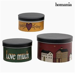 Decorative box Homania 2687 (3 pcs) Circular