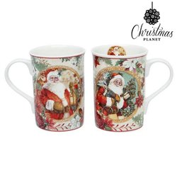 Set of Mugs Christmas Planet 4247 (2 pcs) Father christmas