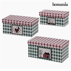 Decorative box Homania 7772 (3 uds) Carboard