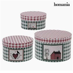 Decorative box Homania 7611 (3 uds) Carboard
