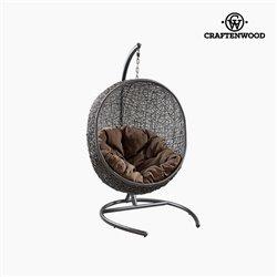 Hanging basket seat (176 cm) Synthetic rattan Black