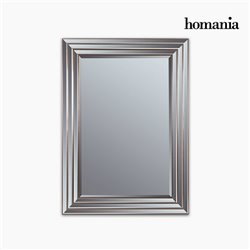 Mirror Synthetic resin Bevelled glass Silver Golden (82 x 3 x 112 cm) by Homania