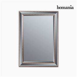 Mirror Synthetic resin Bevelled glass Silver Golden (76 x 3 x 106 cm) by Homania