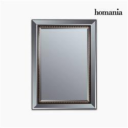 Espejo Resina sintética Cristal biselado Negro Oro (80 x 4 x 110 cm) by Homania