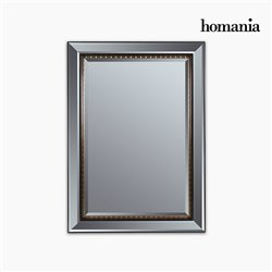 Spiegel Kunstharz Abgeschrägtes kristall Schwarz Gold (80 x 4 x 110 cm) by Homania