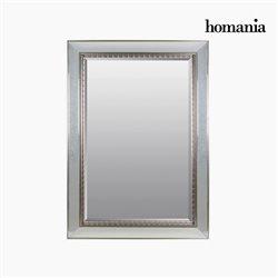 Spiegel Kunstharz Abgeschrägtes kristall Silber (80 x 4 x 110 cm) by Homania