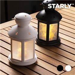 Lanterna LED com Estrelas Preto